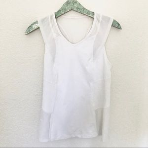 Lululemon White Racer Back Tank